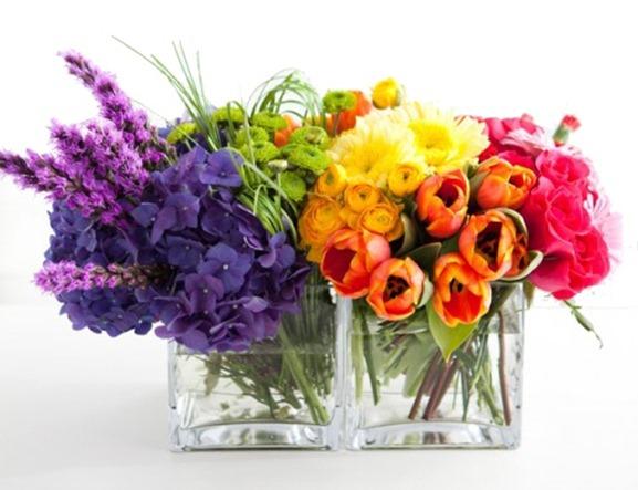 arranjo de flores coloridas primavera 2012 Penelope acessorios bijuterias e semijoias