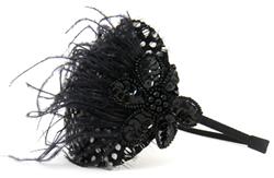 tiara de penas fascinator penelope acessorios de cabelo semijoias e bijuterias