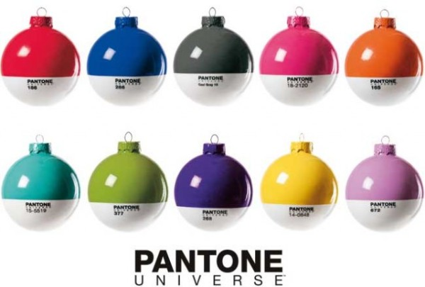 bolas de natal Pantone