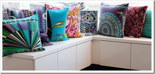 almofadas na decoração lenços pucci