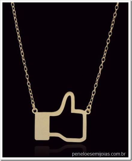 colar CURTIR Facebook Penelope GEEK Bijoux