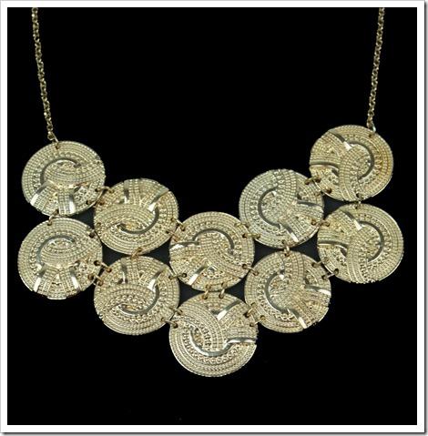 maxi colar dourado circulos