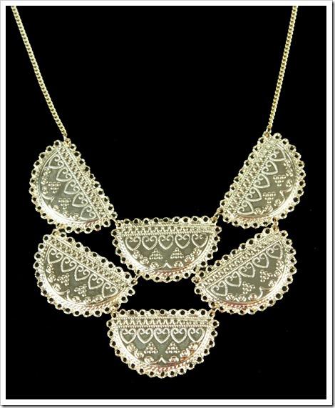 maxi colar dourado indian style