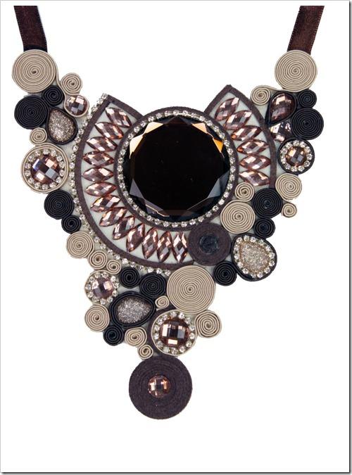 maxi colar marrom penelope acessorios