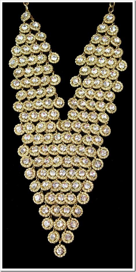 maxi colar nova york dourado com cristais