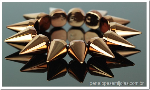 Pulseira Spikes bronze  penelope acessorios 1