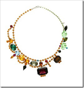 Tom Binns' gem necklace