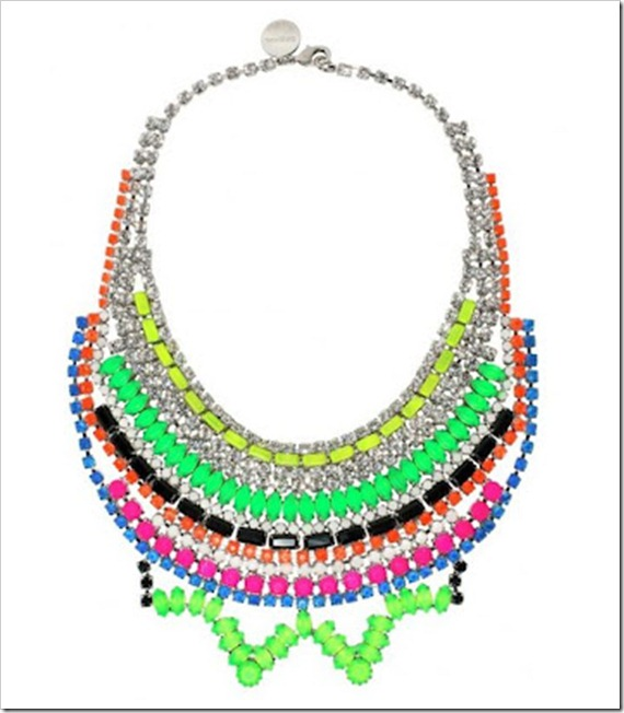 tom binns maxi colar neon 2 - statment necklace