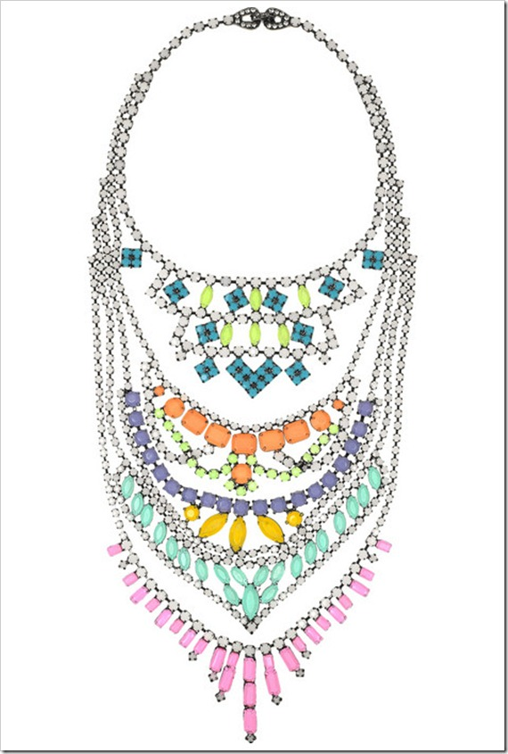 tom binns maxi colar neon 3 - statment necklace