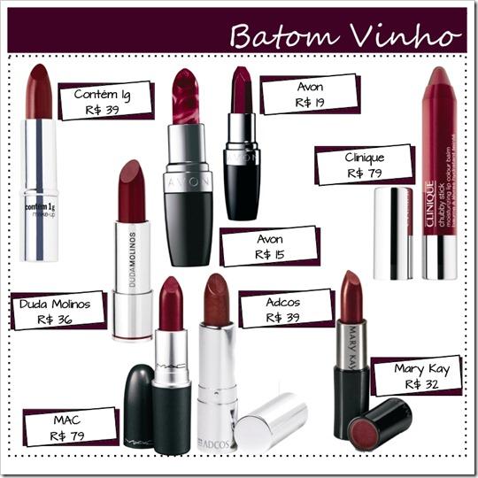 beleza batom esmalte make burgundy vinho bordô - cor tendência inverno 2011 (3)