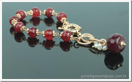 bijuteria fina semi joia folheada a ouro com cristal e pedra preciosa e perola barroca