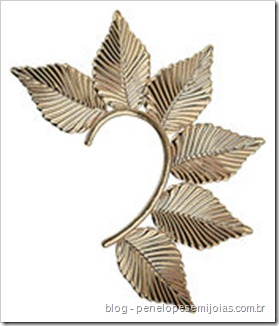brinco de orelha inteira - ear cuff - cuff earring -ear piece ear cuff topshop-earrings-leaf-ear-cuff-earring