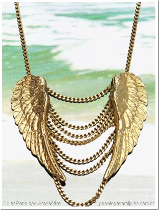 colar bijuteria dourado asa penelope acessórios e semijoias 1
