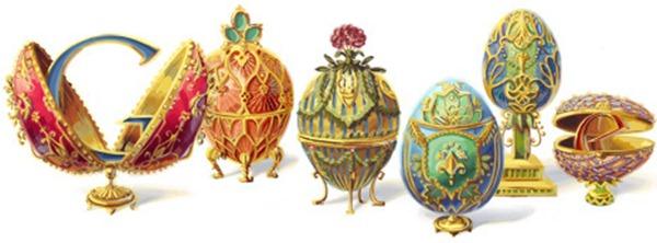 Google Doodle faberge eggs Jewels 166 anniversary Peter Carl Fabergé -  homenagem 166 anos joalheria russa Fabergé