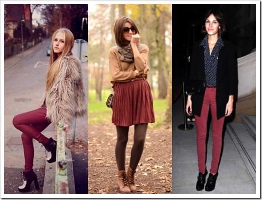 look do dia burgundy cor tendência inverno 2012 (7)