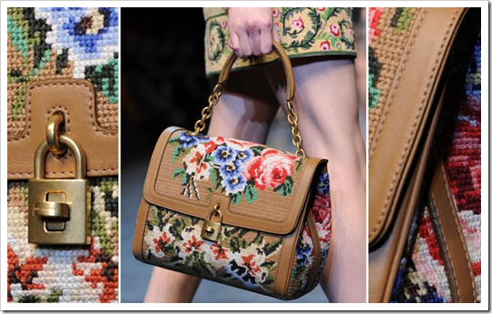 penelope estilosa - tendencia inverno 2012 2013 close-up bordado Ponto-Cruz point de croix cross stitch embroidery flores dolce&gabbana balmain Fall Winter 2012-2013 Milan Fashion Week (1)