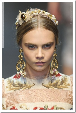Dolce & Gabbana Closeup Runway Collection Fall Winter 2012-2013 at Milan Fashion Week