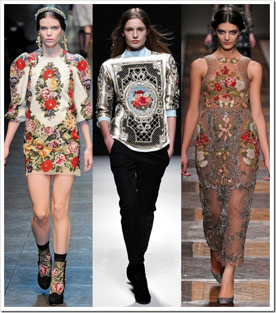 tendencia inverno 2012 2013 Ponto-Cruz point de croix cross stitch embroidery balmain valentino dolce&gabbana (1)