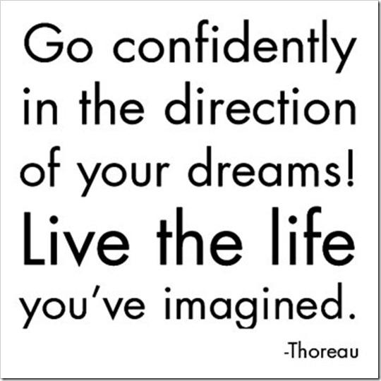 vá na direção de seus sonhos