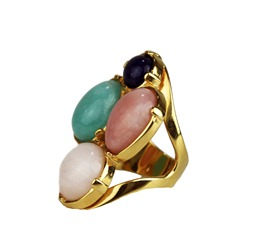 anel semijoia bijuteria fina em pedra brasileira  na cor tendencia do verão 2013 Candy Colors Cor pastel (15)