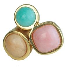 brinco semijoia bijuteria fina em pedra brasileira  na cor tendencia do verão 2013 Candy Colors Cor pastel (2)