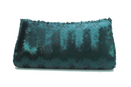 carteira de mão bolsa de festa em paete furta cor verde escuro