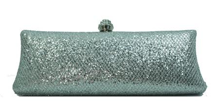 carteira de mão bolsa de festa prata rígida em tecido brilhante