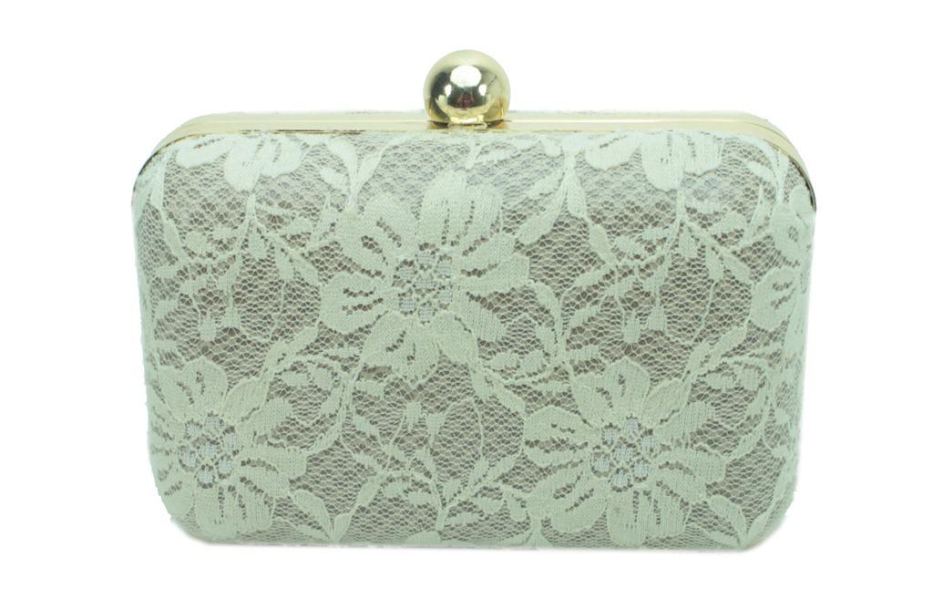 c25d805d6d clutch box bolsa de festa com renda perola off white fecho dourado
