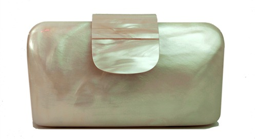 clutch resina madreperola off white