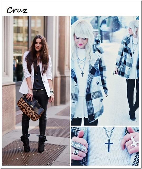 tendência acessórios bijuterias colar brinco pulseira com Cruz Crucifixo estilo rock gótico (14)