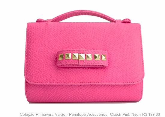 carteira bolsa de mão clutch pink neon tendência acessorios verão 2013
