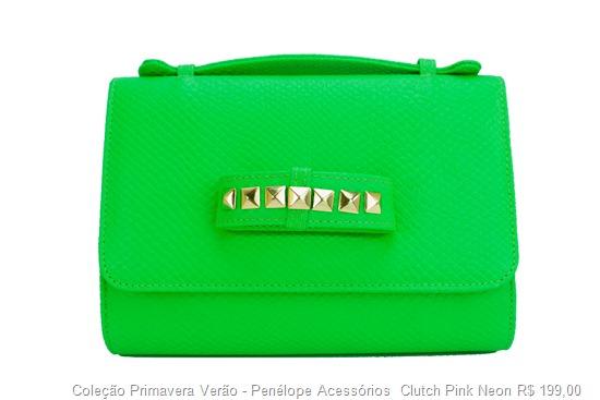 carteira de mão clutch verde neon tendência acessorios verão 2013