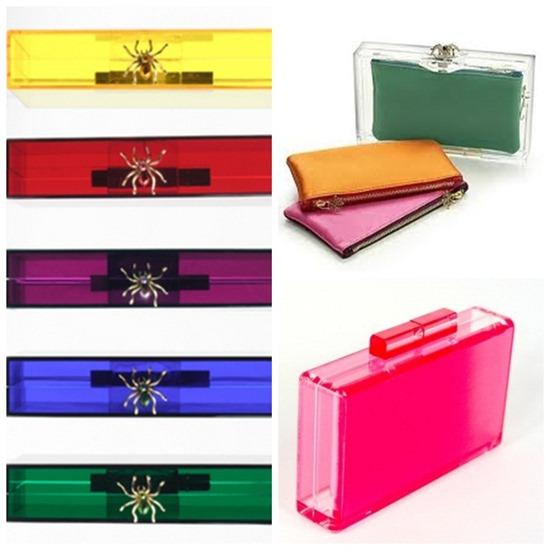 tendencia verão 2013 tons fluor cores neon acessorios bolsas clutch de acrilico acessorios coloridos  onde encontrar onde comprar stella mc carteney charlotte olympia
