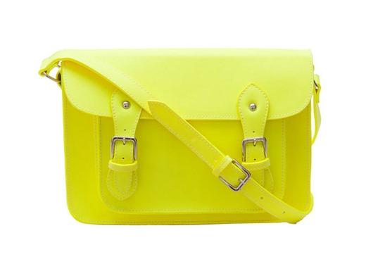bolsa cambridge sachel inspired cor amarelo lima