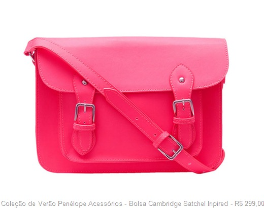 bolsa cambridge sachel inspired cor pink fluor
