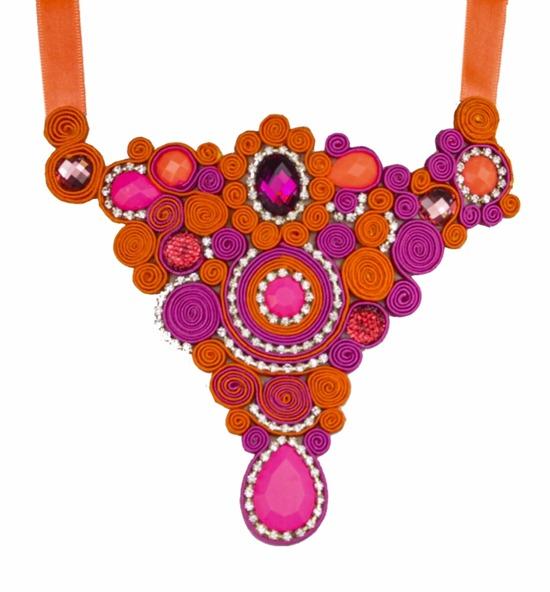 maxi colar pink laranja soutache feito a mão tendencia acessorios verão 2013 (742x800)
