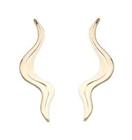 Brinco-EAR CUFF SERPENTE folheado-a-ouro