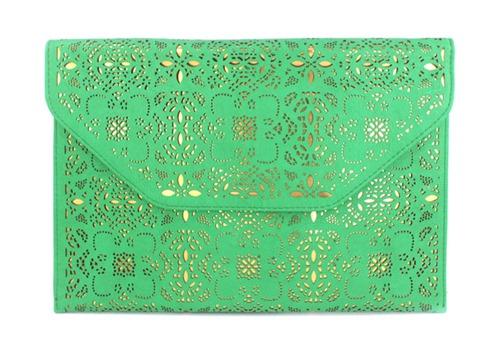 carteira de mão, bolsa de mão, bolsa,  pequena, bolsa , bolsa tiracolo, transversal, verão 2014, verde, valentino inspired, tachas, studs, spikes(30)