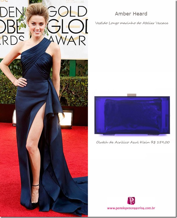 vestidos-de-festa,-vestido-azul,-clutch-de-festa,-clutch-de-acrílico,-bolsa-de-festa,amber-heard,-looks-oscar,-red-carpet,-golden-globe-awards-2014
